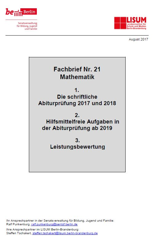 Fachbrief Mathematik